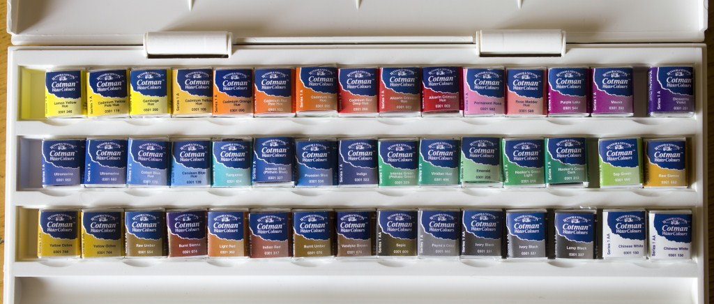 Winsor & Newton Cotman Studio 45 Half Pan Set 7